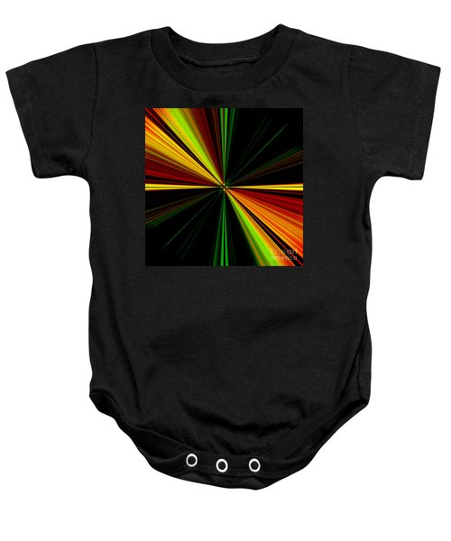 Starburst Light Beams Design - Plb461 Baby Onesie