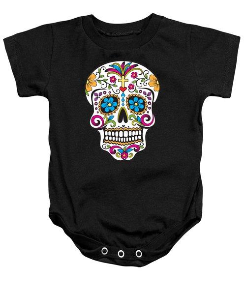 Sugar Skull Day Of The Dead Baby Onesie