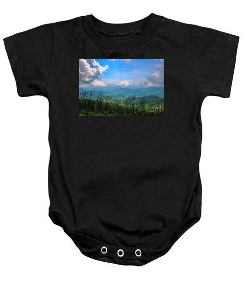 Summer Mountain View Baby Onesie