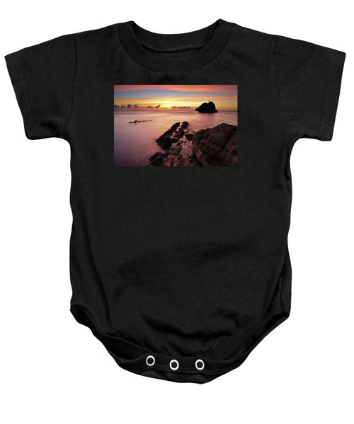Sunset At Columbus Bay Baby Onesie