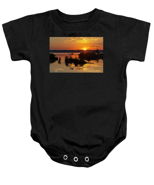Sunset, Mallows Bay Baby Onesie