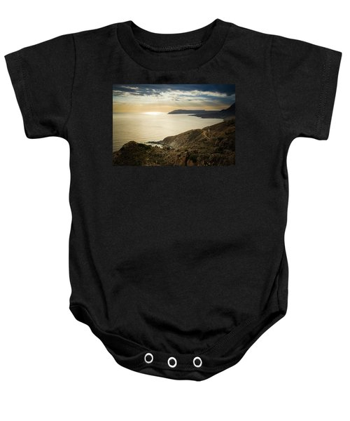Sunset Near Tainaron Cape Baby Onesie