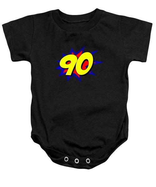 Superhero 90 Years Old Birthday Baby Onesie