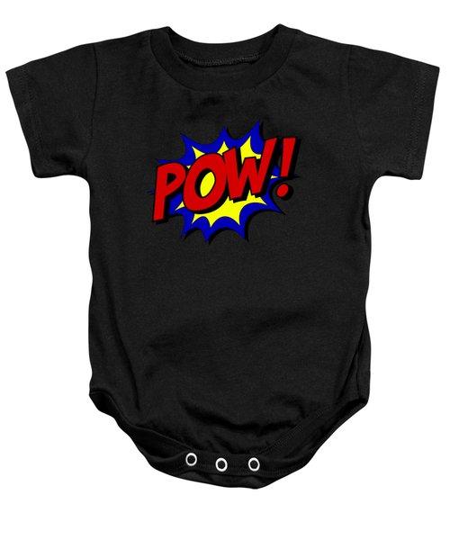 Baby Onesie featuring the digital art Superhero Pow by Flippin Sweet Gear