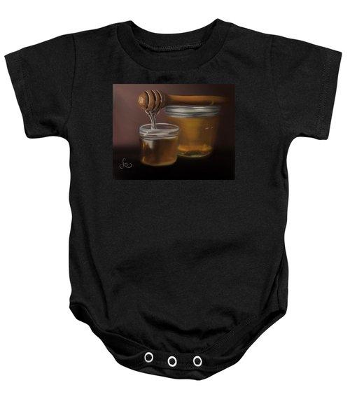 Baby Onesie featuring the painting Sweet Honey by Fe Jones