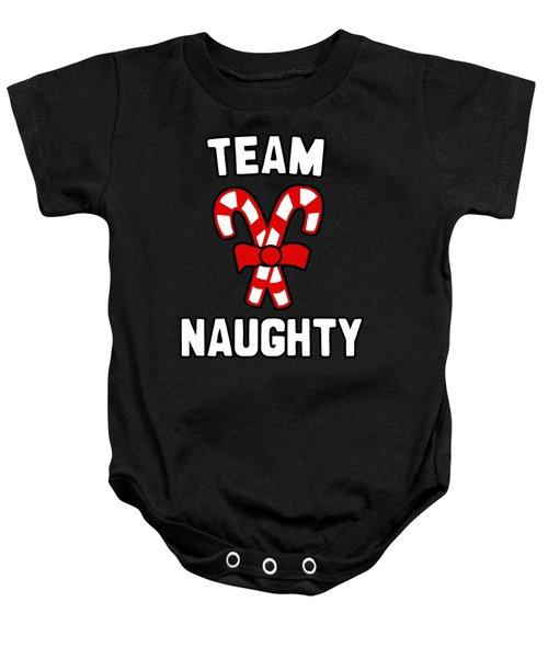 Baby Onesie featuring the digital art Team Naughty by Flippin Sweet Gear