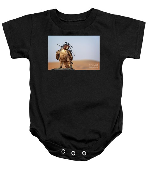 The Art Of Falconry Baby Onesie