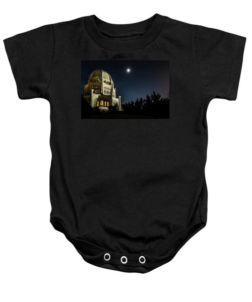 The Bahais Temple On A Starry Night Baby Onesie