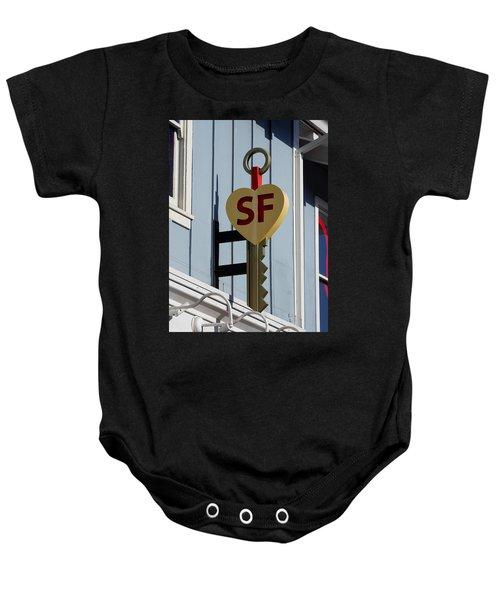 The Key To San Francisco Baby Onesie