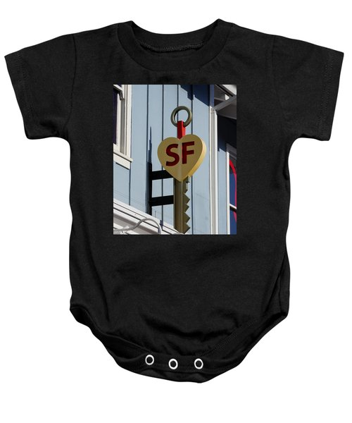 The Key To San Francisco Baby Onesie