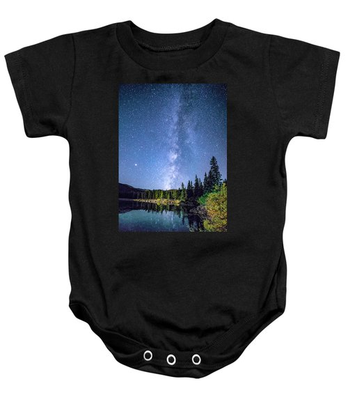 The Milky Way Over Echo Lake Baby Onesie
