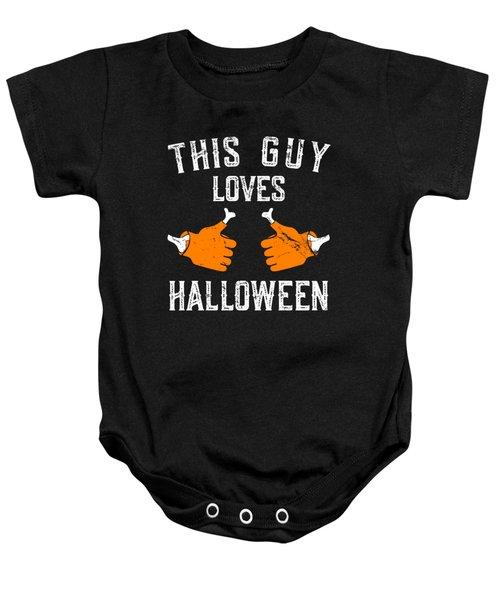 This Guy Loves Halloween Baby Onesie