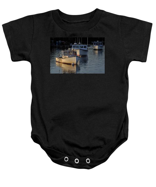 Three Boats In Maine Baby Onesie