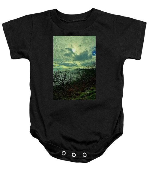 Thunder Mountain Clouds Baby Onesie