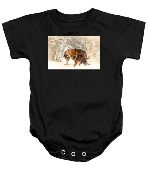 Tiger Family Baby Onesie