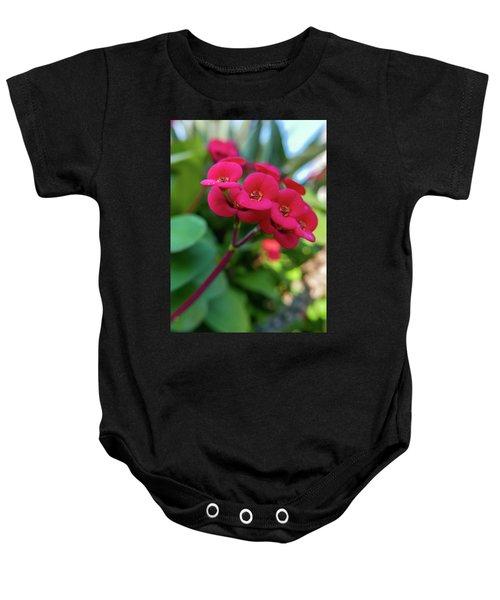 Tiny Red Flowers Baby Onesie