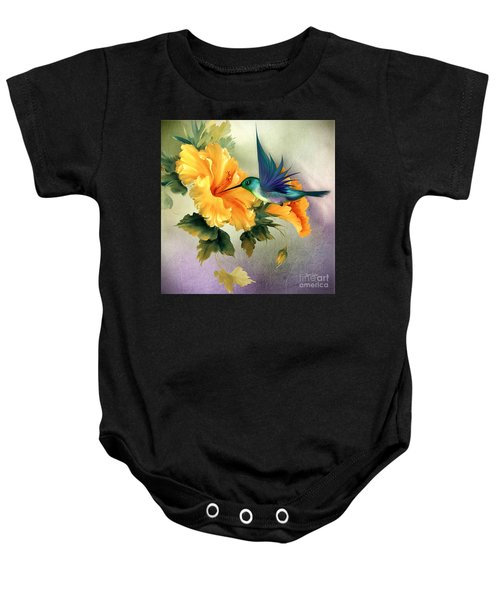 Baby Onesie featuring the digital art Tiny Wings by Morag Bates