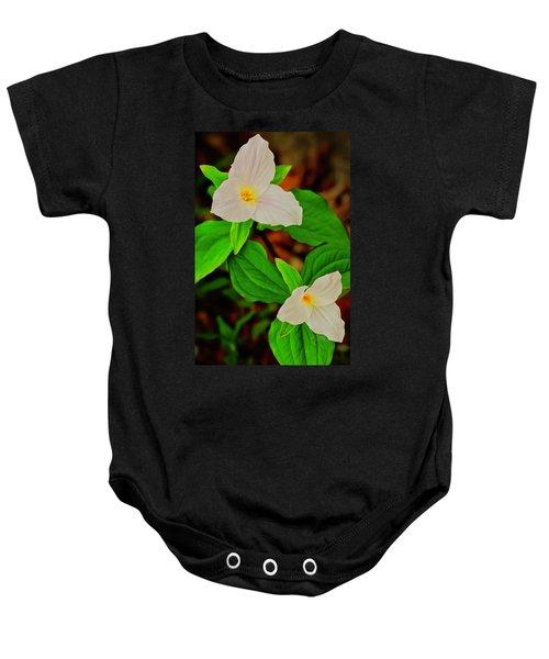 Trilliums Baby Onesie