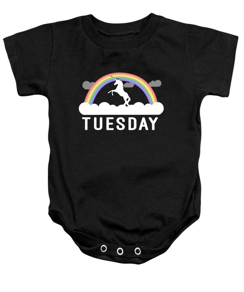 Baby Onesie featuring the digital art Tuesday by Flippin Sweet Gear