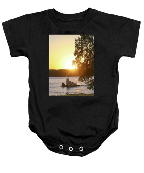 Tugboat On Mississippi River Baby Onesie