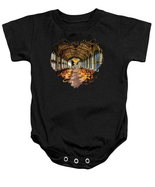 University Of Chicago Harper Library Baby Onesie