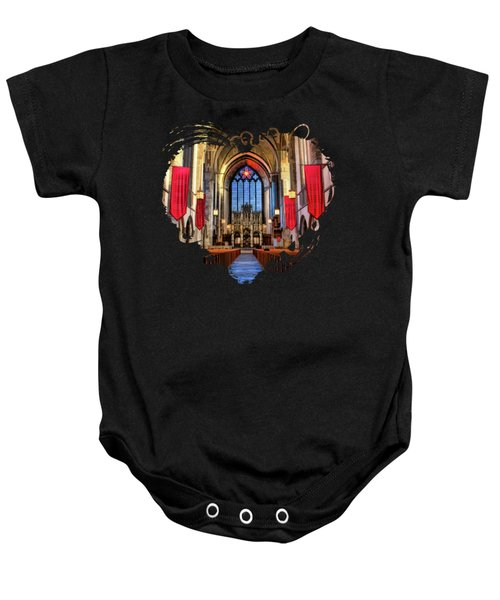 University Of Chicago Rockefeller Chapel Baby Onesie