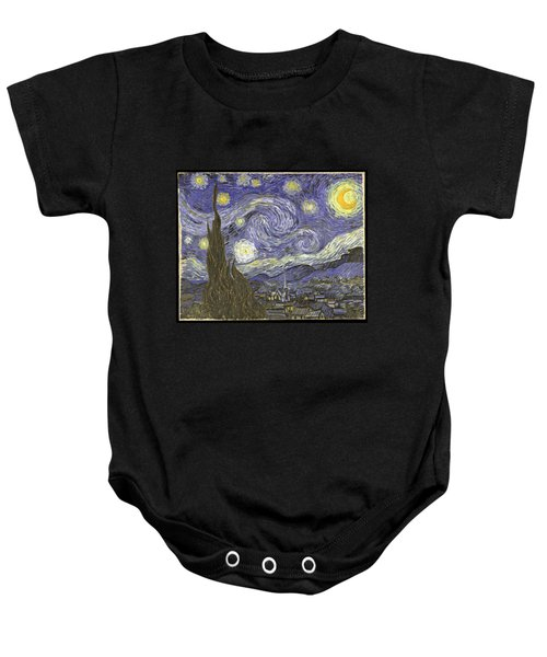 Baby Onesie featuring the digital art Van Goh Starry Night by Flippin Sweet Gear
