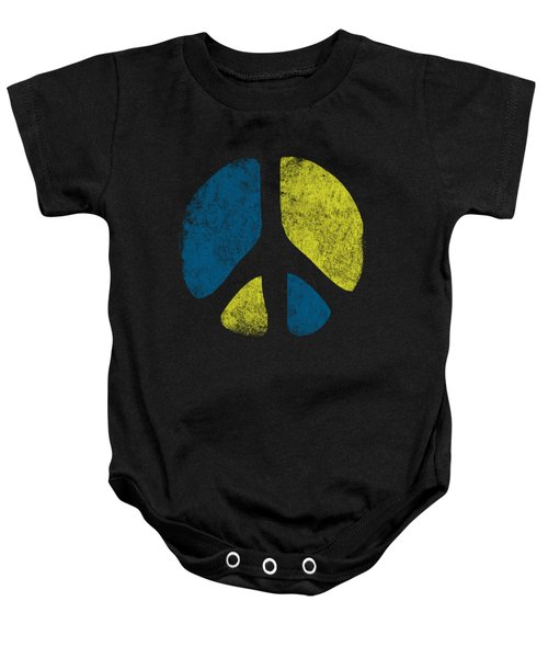 Baby Onesie featuring the digital art Vintage Peace Sign by Flippin Sweet Gear