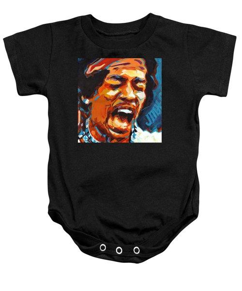 Voodoo Child - Jimi Hendrix In 1969 Baby Onesie
