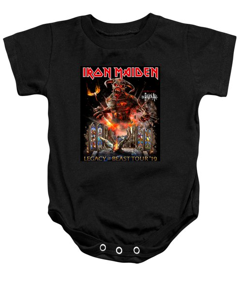 7debfbb776 Wall Art Iron Maiden Poster Aw21 Baby Onesie