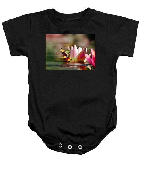Water Lily And Frog Baby Onesie
