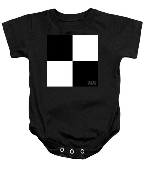 White And Black Squares - Ddh586 Baby Onesie