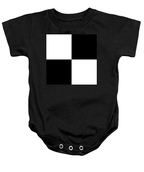 White And Black Squares - Ddh588 Baby Onesie