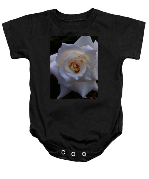 White Rose Baby Onesie