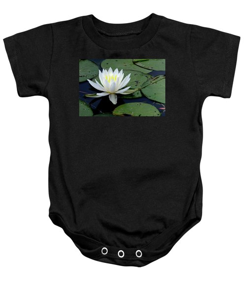 White Water Lilly Baby Onesie