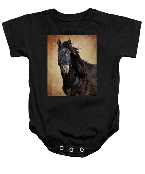 Baby Onesie featuring the photograph Wildly Handsome by Mary Hone