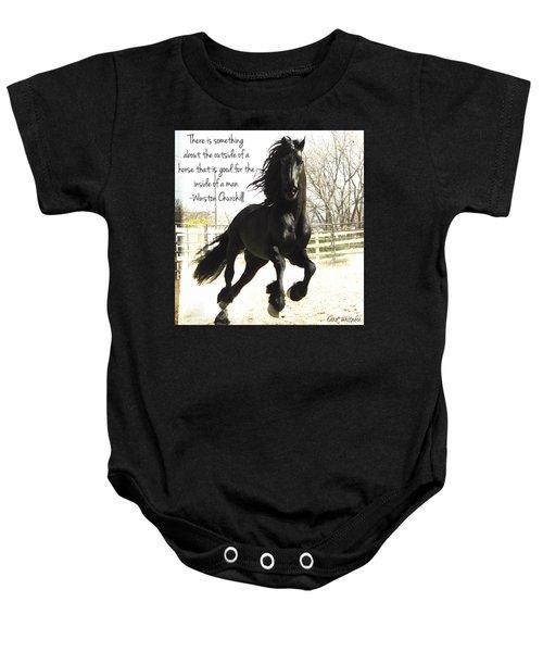 Winston Churchill Horse Quote Baby Onesie