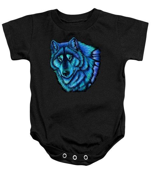 Wolf Aurora Baby Onesie