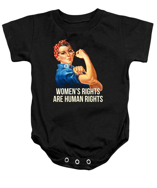 Womens Rights Are Human Rights Tshirt Baby Onesie