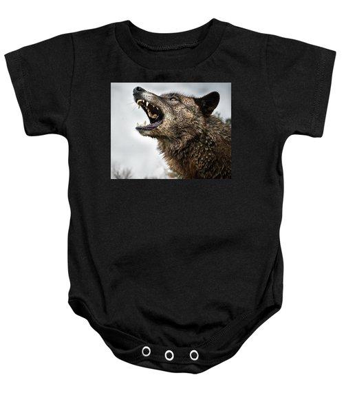 Woof Wolf Baby Onesie