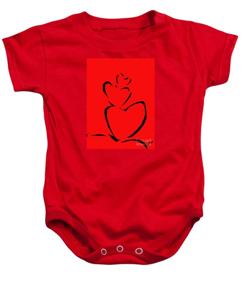 Baby Onesie featuring the painting  A Stack Of Hearts by Go Van Kampen