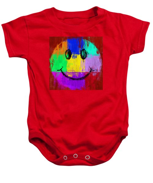 Abstract Smiley Face Baby Onesie