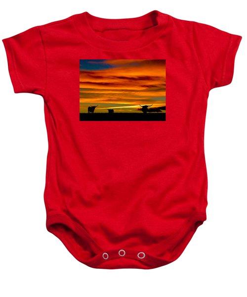 Longhorn Sunset Baby Onesie