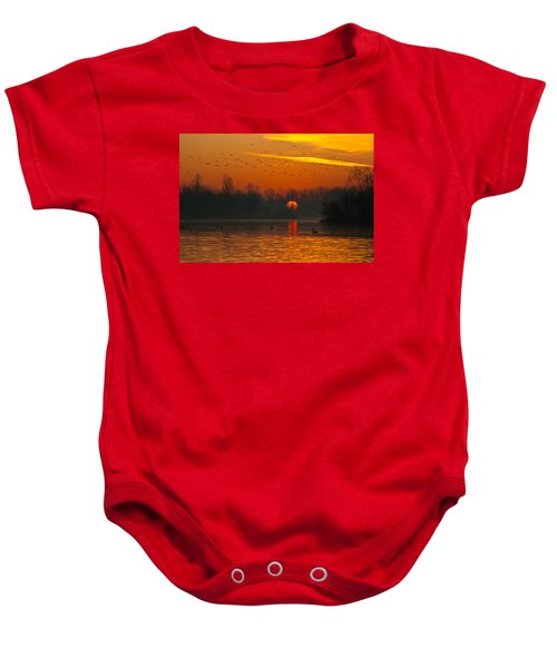 Morning Over River Baby Onesie