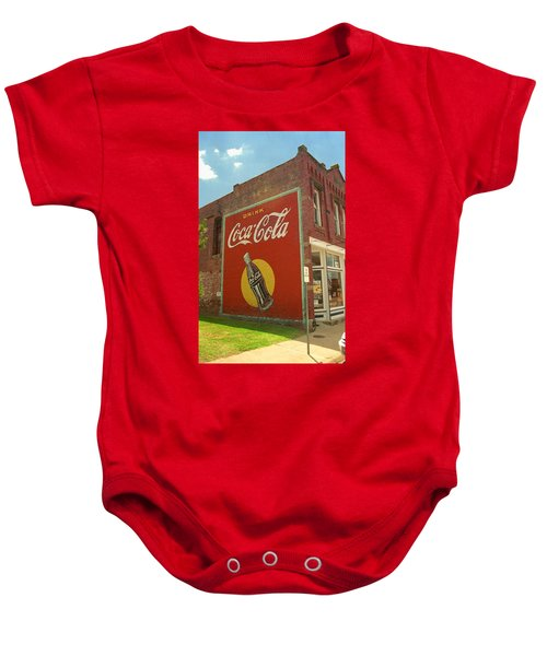 Baby Onesie featuring the photograph Route 66 - Coca Cola Ghost Mural by Frank Romeo
