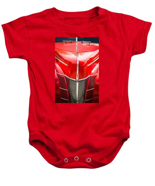 1940 Ford Deluxe Coupe Grille Baby Onesie