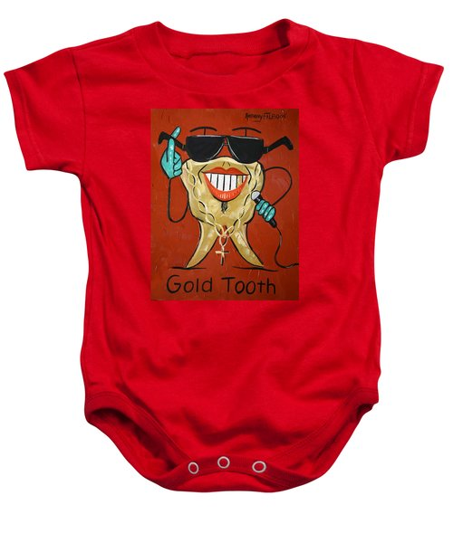 Gold Tooth Baby Onesie