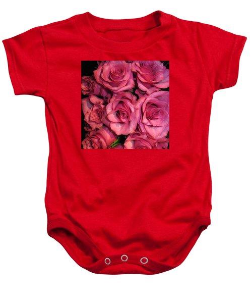 Rosebouquet In Pink Baby Onesie