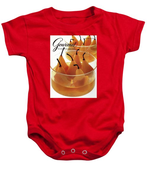 A Gourmet Cover Of Baked Pears Baby Onesie