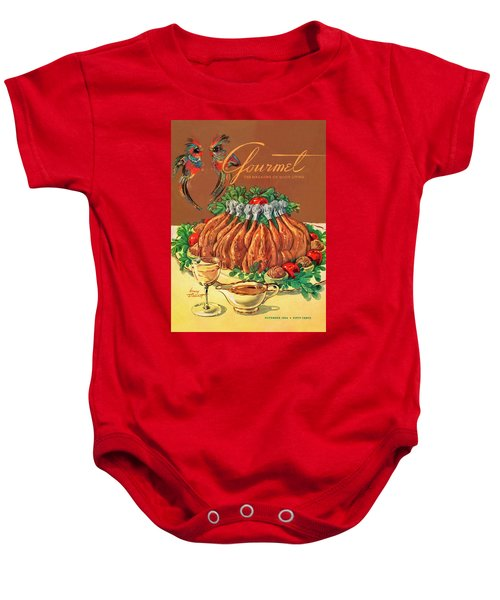 A Gourmet Cover Of Chicken Baby Onesie by Henry Stahlhut